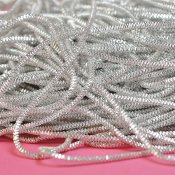 Check purl wire for bead embroidery, 1mm, silver