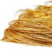 Check purl wire for bead embroidery, 1mm, gold