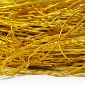 Soft purl wire for bead embroidery, 1mm, gold