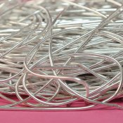 Soft purl wire for bead embroidery, 1mm, silver