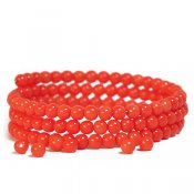 Fireworks - 4.5mm lacquered glass beads, coral