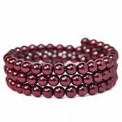 Glass pearls, 6mm beads, Bordeaux