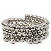 Round solid stainless steel beads, 8mm