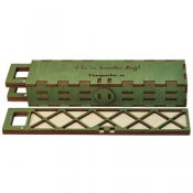 Lockable trays for seed beads and small components, olive green