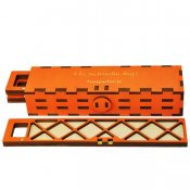 Lockable trays for seed beads and small components, orange