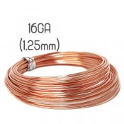 Solid copper wire, 16GA (1,25mm grov)