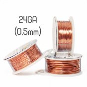 Solid copper wire, 24GA (0,5mm grov)