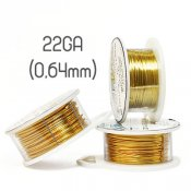 Non-tarnish gold wire, 22GA (0,64mm grov)
