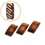 Acrylic Carrier Beads, 9x18mm, brown