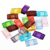 Acrylic Carrier Beads, 9x18mm, mixed colors