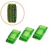Acrylic Carrier Beads, 9x18mm, green