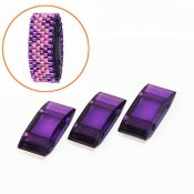 Acrylic Carrier Beads, 9x18mm, purple