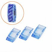 Acrylic Carrier Beads, 9x18mm, light sapphire blue