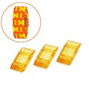 Acrylic Carrier Beads, 9x18mm, light orange