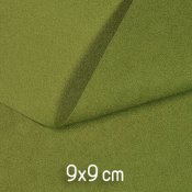 Ecological ultrasuede, approx. 9x9cm, pistachio green