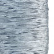 Chinese knotting cord, polyester, 1mm, light gray