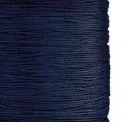 Chinese knotting cord, polyester, 1mm, dark blue