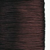Chinese knotting cord, polyester, 1mm, dark brown