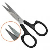 Small, sharp embroidery scissors, stainless steel