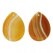 Drop-shaped agate pendants, dyed, approx. 3x4cm
