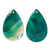 Drop-shaped agate pendants, dyed, approx. 3x4.5cm