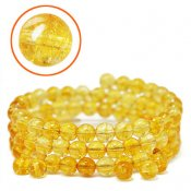 Heated citrine, 6mm round beads