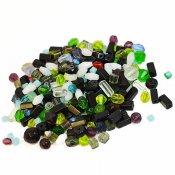Mixed 5-8mm glass beads, 50g