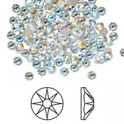 Swarovski flat back strass, 1.7-1.9mm, crystal shimmer