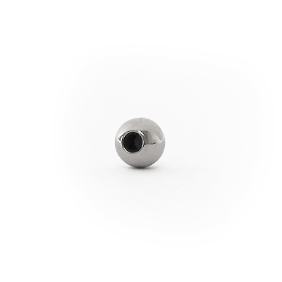 Round, half-drilled beads, steel-colored, 4mm