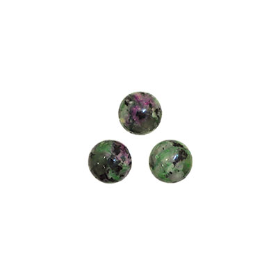Cabochon, ruby in zoisite imitation, 8mm