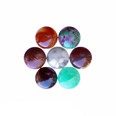 Mix: cabochoner, 12mm runda