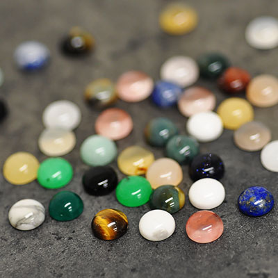 Mix: cabochoner, 8mm runda