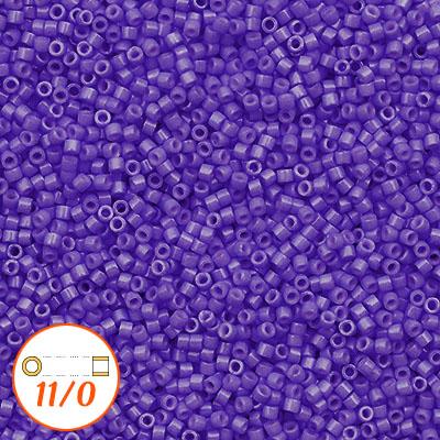 Miyuki Delicas 11//0 Opaque Violet Seed Beads DB-1379