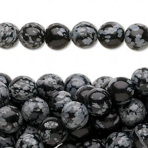 Snowflake Obsidian 13x18mm Gemstone Beads 2993