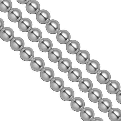 Swarovski Pearls, 6mm, grey