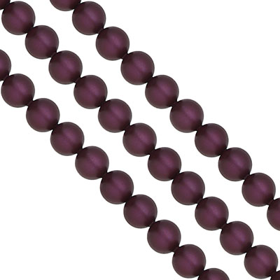 Swarovski Pearls, 8mm, elderberry