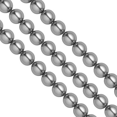 Swarovski Pearls, 8mm, grey