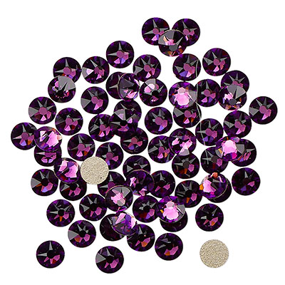 Swarovski flat back strass, 3-3.2mm, amethyst