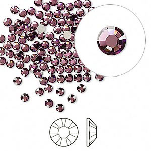 Swarovski flat back strass, 2.5-2.7mm, crystal antique pink