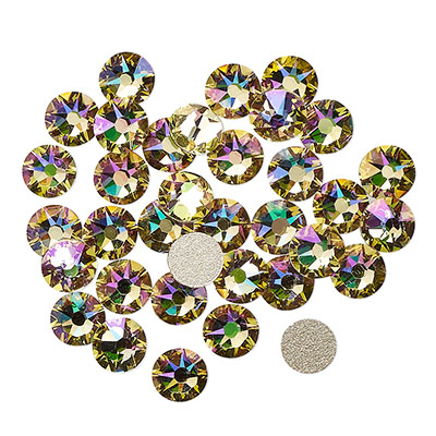 Swarovski flat back strass, 3-3.2mm, crystal luminous green