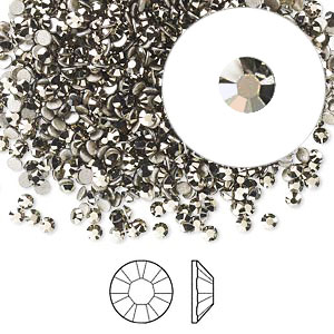 Swarovski flat back strass, 2.1-2.3mm, crystal metallic light gold