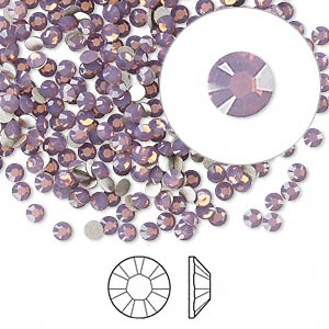 Swarovski flat back strass, 2.5-2.7mm, cyclamen opal