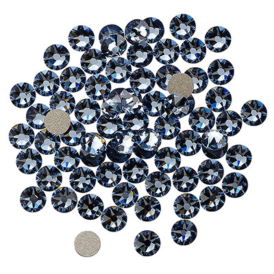 Swarovski flat back strass, 3-3.2mm, denim blue
