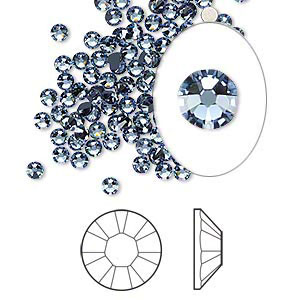 Swarovski flat back strass, 2.5-2.7mm, denim blue