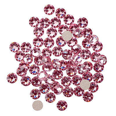 Swarovski flat back strass, 3-3.2mm, light rose