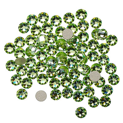 Swarovski flat back strass, 3-3.2mm, peridot