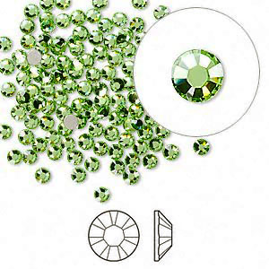 Swarovski flat back strass, 2.5-2.7mm, peridot