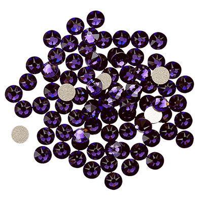 Swarovski flat back strass, 3-3.2mm, purple velvet