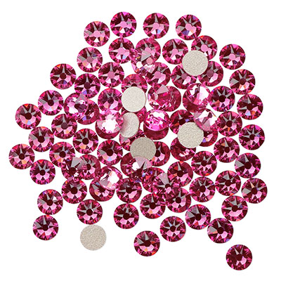 Swarovski flat back strass, 3-3.2mm, rose