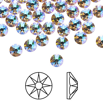 Swarovski flat back strass, 2.5-2.7mm, silk shimmer